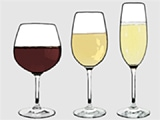 Main types of wine glasses