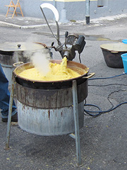Polenta cooker at a town fair