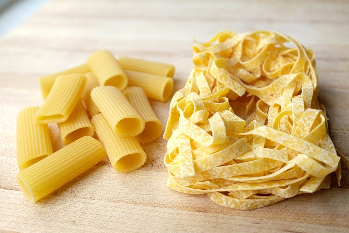 Dried and fresh pasta