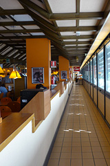 The bridge-style Autogrill (above), from the inside.