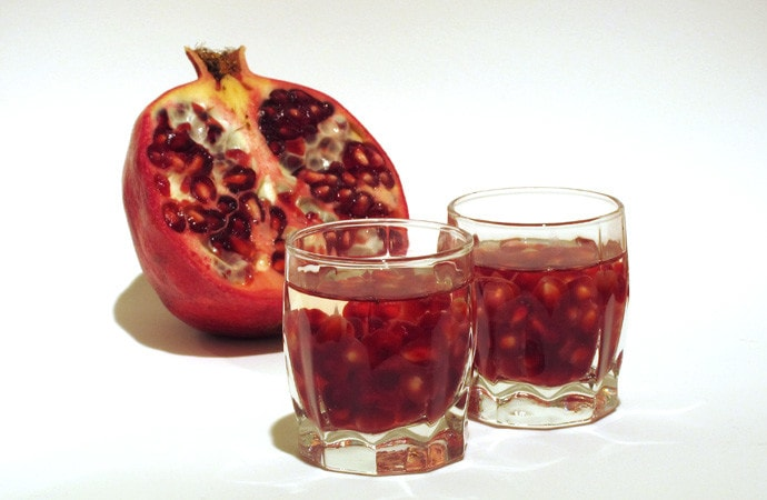 Pomegranate with Grappa