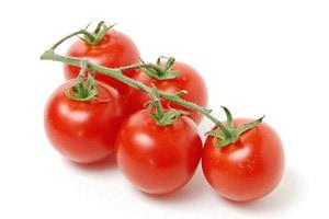 Campari tomatoes on the vine.