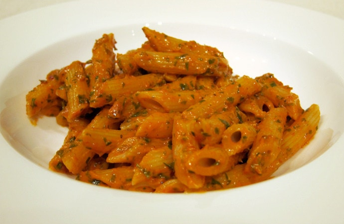 Vodka Pasta (Made Vegetarian)