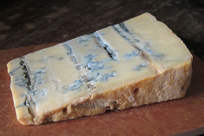 A slice of Gorgonzola Piccante