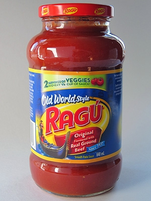 "Original because ""Flavored with Real Ground Beef""? Ragù is a meat sauce, not a questionable tomato sauce *flavored* with meat. Besides, what else can ground beef be other than real?"
