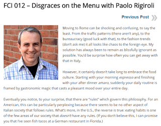 "I was featured on Rick Zullo's ""The Fatal Charm of Italy"" podcast!"