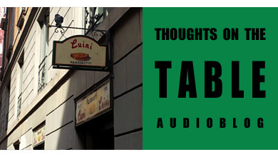 [Thoughts on the Table – 7] On Location in Milan!
