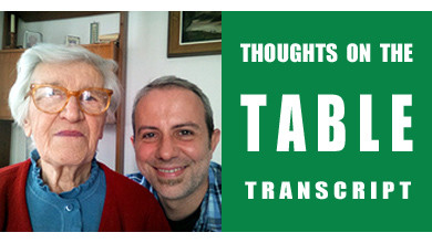 [Thoughts on the Table Transcript] Grandma's Wartime Memories: Food in Northern Italy