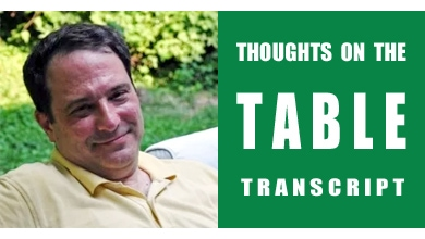 [Thoughts on the Table Transcript] Frank Fariello from Memorie di Angelina