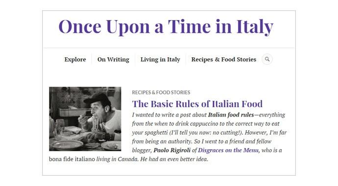 My Guest Post on The Basic Rules of Italian Food