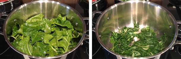 chard, cooking