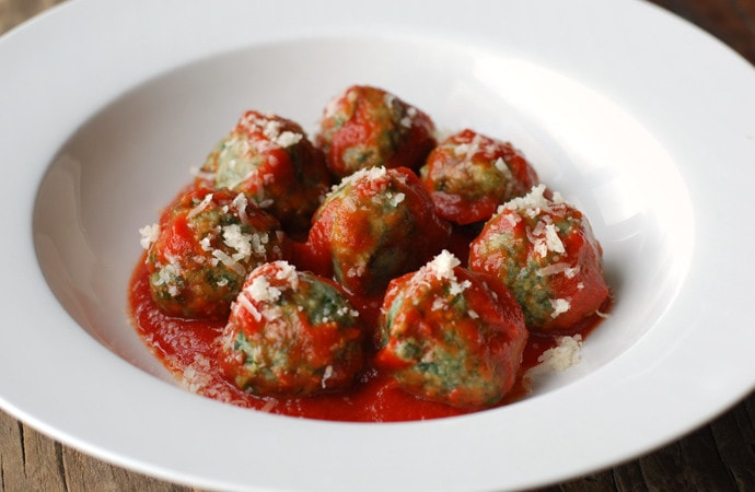 chard and spinach gnudi