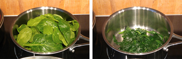spinach, cooking