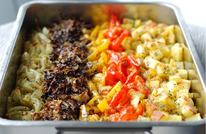 oven-roasted vegetable stripes