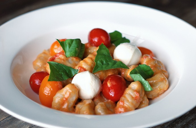 Buckwheat Gnocchi with Mascarpone Tomato Sauce