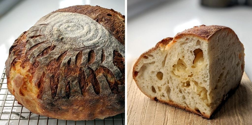 Cheese sourdough bread